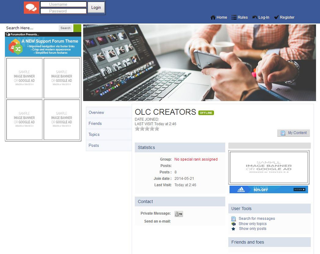 Introducing New Facebook style Sign Up home page Design Timava10