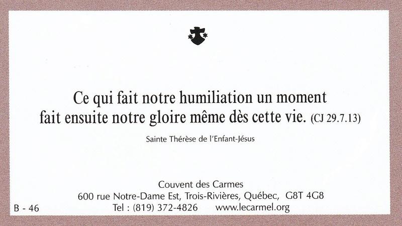 Petites paroles de Sainte-Thérèse de l'Enfant-Jésus et de la Sainte-Face - Page 5 B-4610