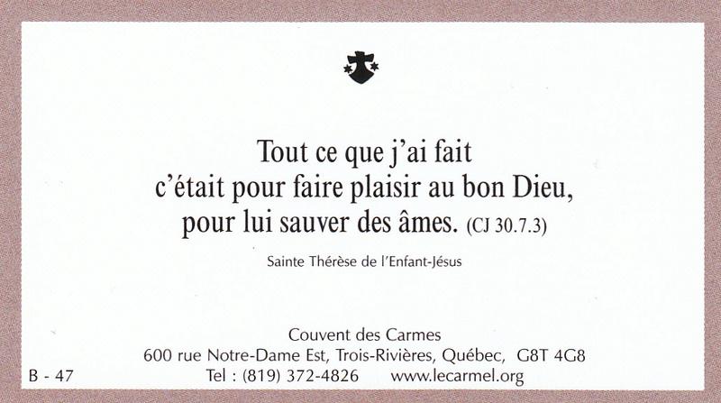 Petites paroles de Sainte-Thérèse de l'Enfant-Jésus et de la Sainte-Face - Page 5 B-4710