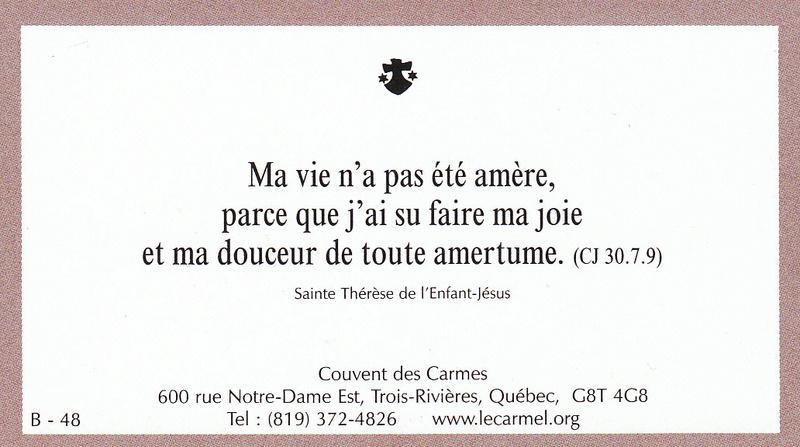 Petites paroles de Sainte-Thérèse de l'Enfant-Jésus et de la Sainte-Face - Page 5 B-4810