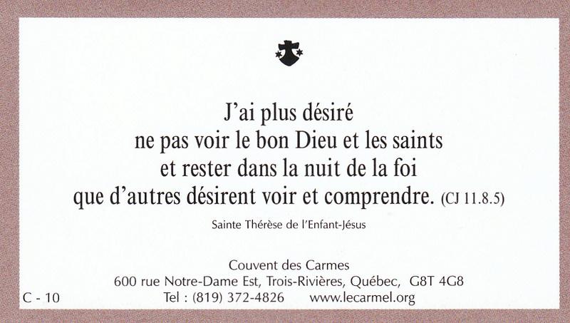 Petites paroles de Sainte-Thérèse de l'Enfant-Jésus et de la Sainte-Face - Page 5 C-1010