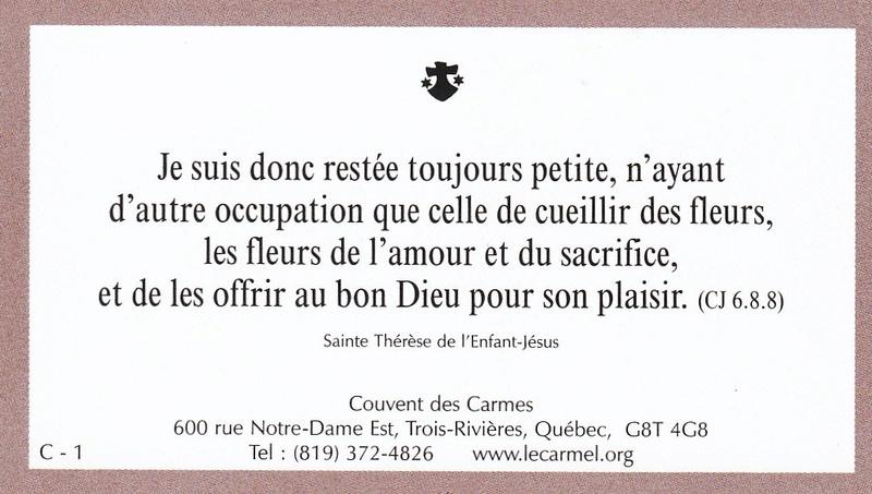 Petites paroles de Sainte-Thérèse de l'Enfant-Jésus et de la Sainte-Face - Page 5 C-110
