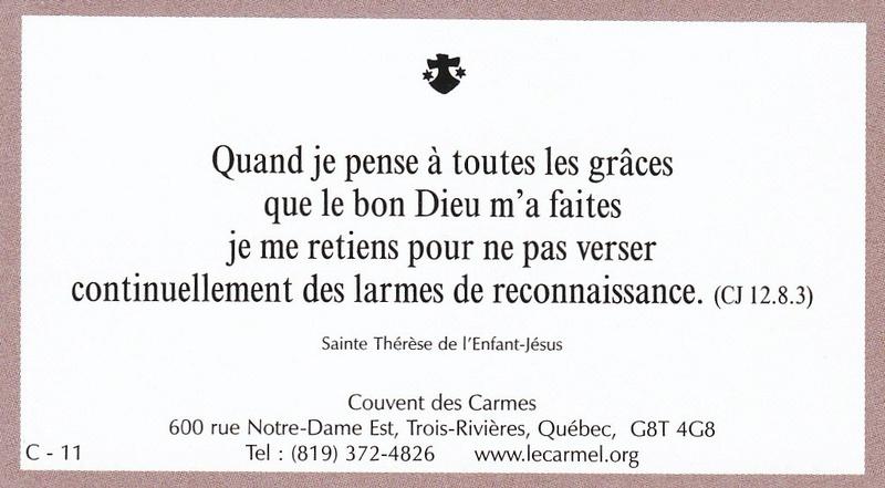 Petites paroles de Sainte-Thérèse de l'Enfant-Jésus et de la Sainte-Face - Page 5 C-1110