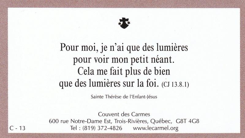 Petites paroles de Sainte-Thérèse de l'Enfant-Jésus et de la Sainte-Face - Page 5 C-1310