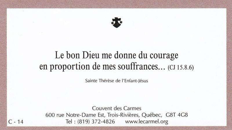 Petites paroles de Sainte-Thérèse de l'Enfant-Jésus et de la Sainte-Face - Page 5 C-1410