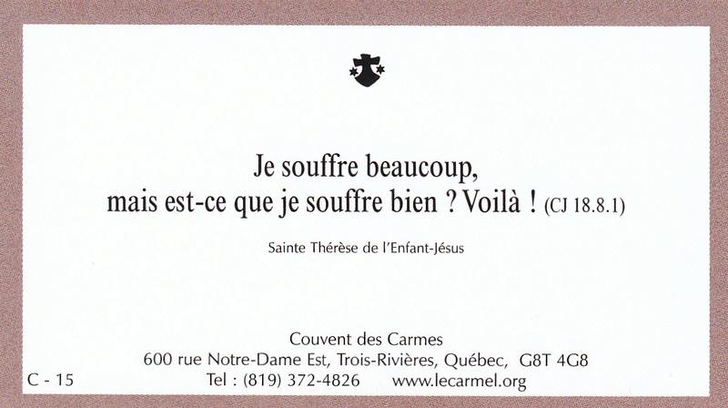 Petites paroles de Sainte-Thérèse de l'Enfant-Jésus et de la Sainte-Face - Page 5 C-1510