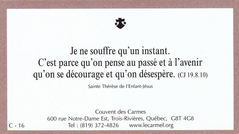 Petites paroles de Sainte-Thérèse de l'Enfant-Jésus et de la Sainte-Face - Page 5 C-1610