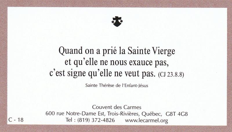 Petites paroles de Sainte-Thérèse de l'Enfant-Jésus et de la Sainte-Face - Page 5 C-1810