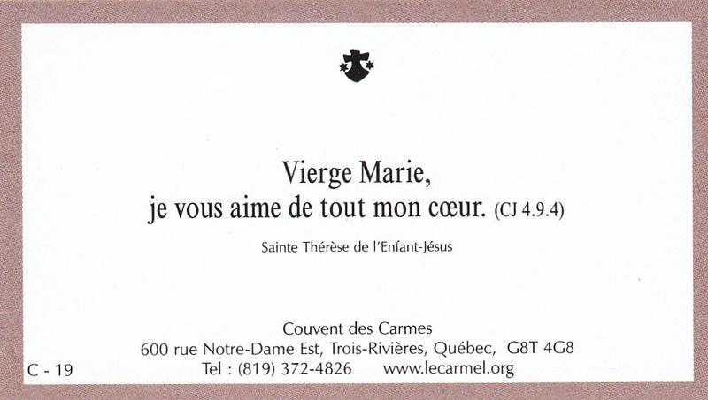 Petites paroles de Sainte-Thérèse de l'Enfant-Jésus et de la Sainte-Face - Page 5 C-1910