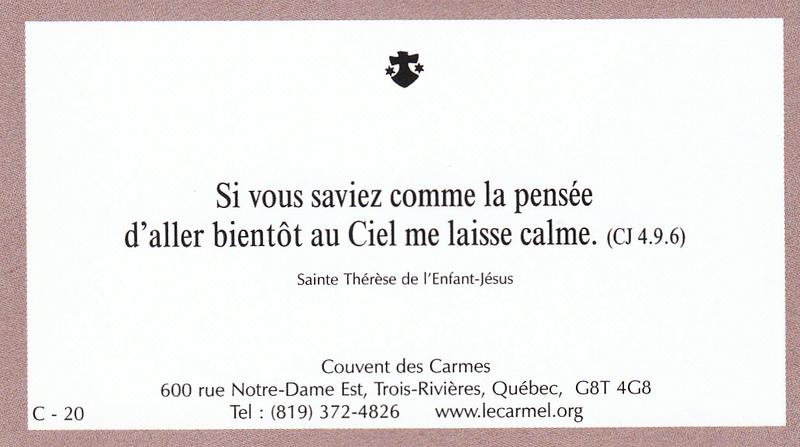 Petites paroles de Sainte-Thérèse de l'Enfant-Jésus et de la Sainte-Face - Page 5 C-2010