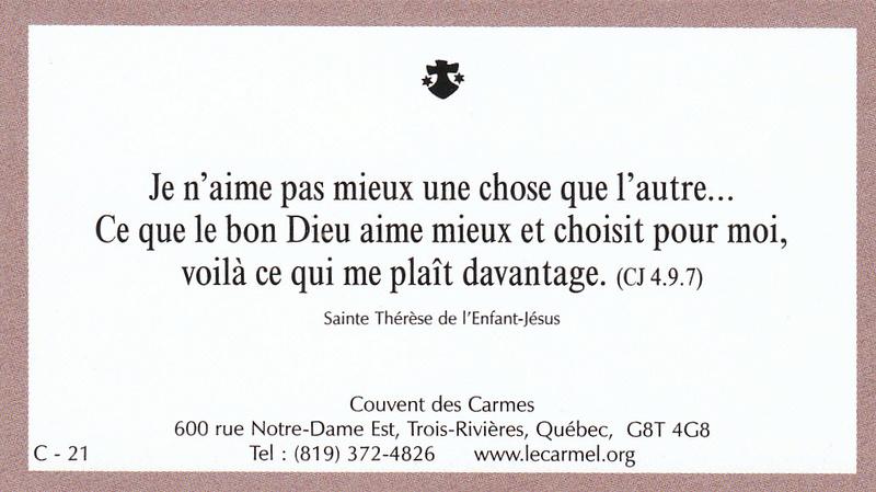 Petites paroles de Sainte-Thérèse de l'Enfant-Jésus et de la Sainte-Face - Page 5 C-2110