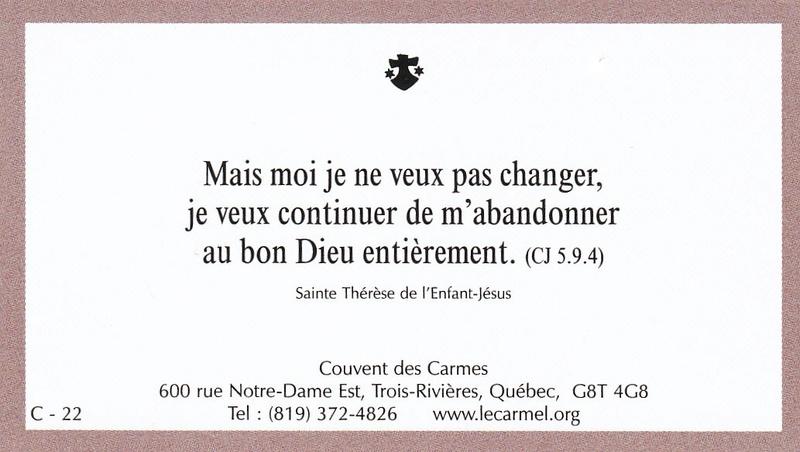Petites paroles de Sainte-Thérèse de l'Enfant-Jésus et de la Sainte-Face - Page 5 C-2210