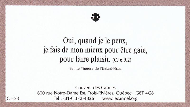 Petites paroles de Sainte-Thérèse de l'Enfant-Jésus et de la Sainte-Face - Page 5 C-2310