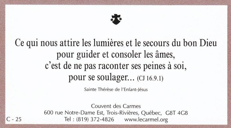 Petites paroles de Sainte-Thérèse de l'Enfant-Jésus et de la Sainte-Face - Page 6 C-2510