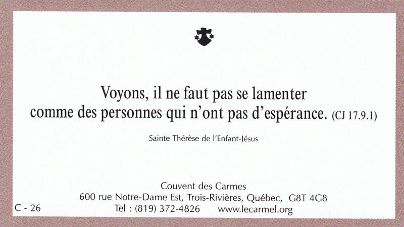 Petites paroles de Sainte-Thérèse de l'Enfant-Jésus et de la Sainte-Face - Page 6 C-2610