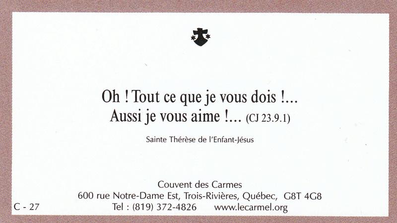 Petites paroles de Sainte-Thérèse de l'Enfant-Jésus et de la Sainte-Face - Page 6 C-2710