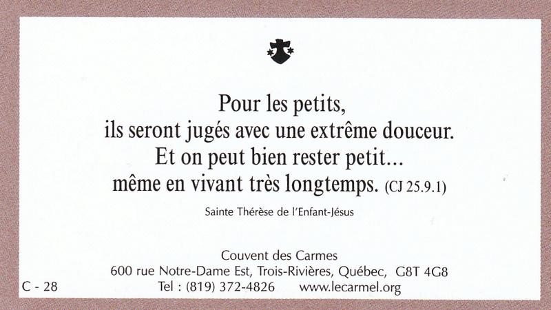 Petites paroles de Sainte-Thérèse de l'Enfant-Jésus et de la Sainte-Face - Page 6 C-2810