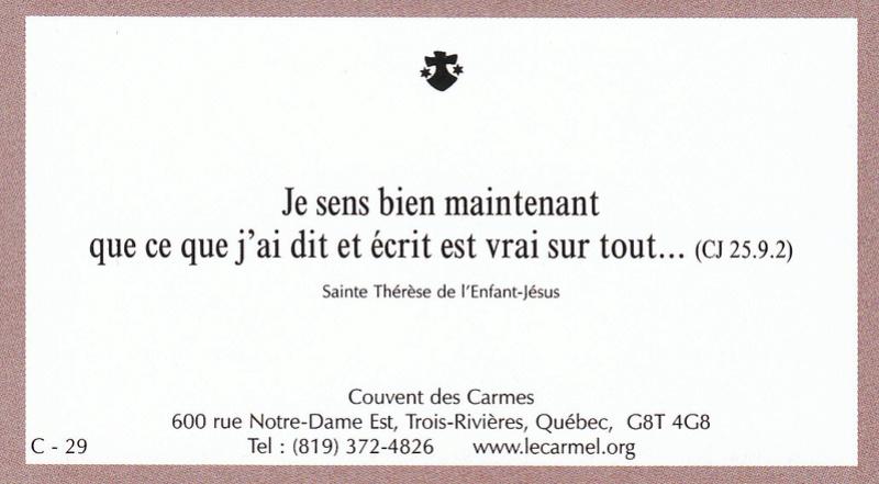Petites paroles de Sainte-Thérèse de l'Enfant-Jésus et de la Sainte-Face - Page 6 C-2910