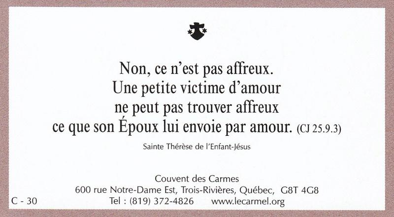 Petites paroles de Sainte-Thérèse de l'Enfant-Jésus et de la Sainte-Face - Page 6 C-3010