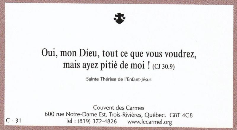 Petites paroles de Sainte-Thérèse de l'Enfant-Jésus et de la Sainte-Face - Page 6 C-3110