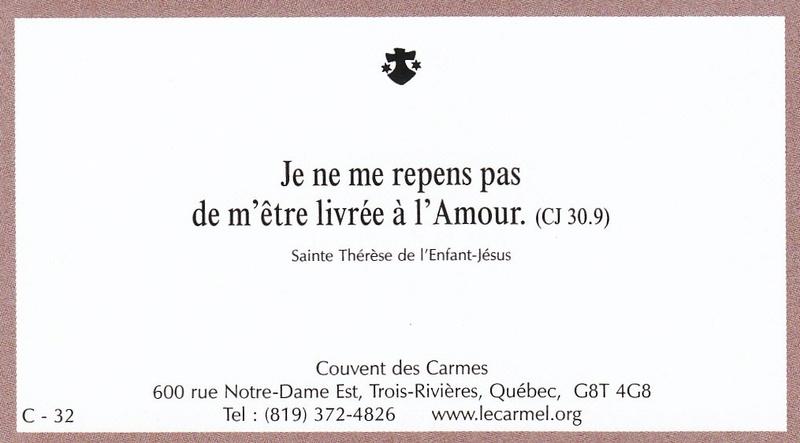 Petites paroles de Sainte-Thérèse de l'Enfant-Jésus et de la Sainte-Face - Page 6 C-3210