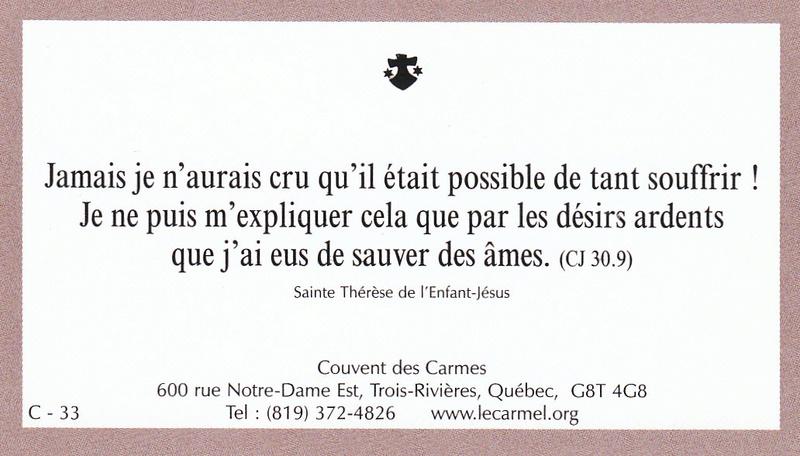 Petites paroles de Sainte-Thérèse de l'Enfant-Jésus et de la Sainte-Face - Page 6 C-3310