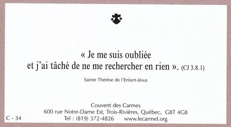 Petites paroles de Sainte-Thérèse de l'Enfant-Jésus et de la Sainte-Face - Page 6 C-3410