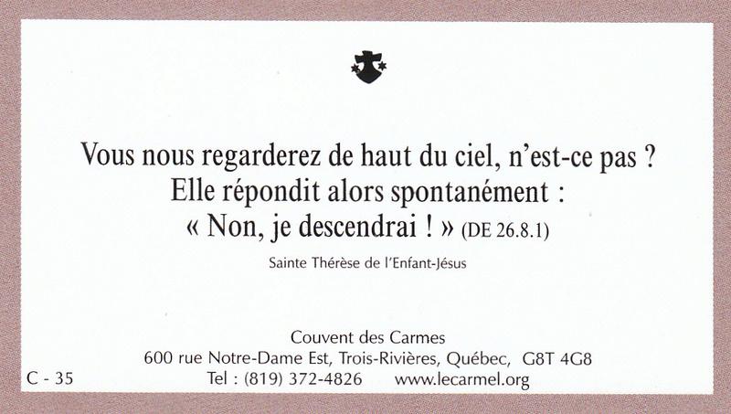 Petites paroles de Sainte-Thérèse de l'Enfant-Jésus et de la Sainte-Face - Page 6 C-3510