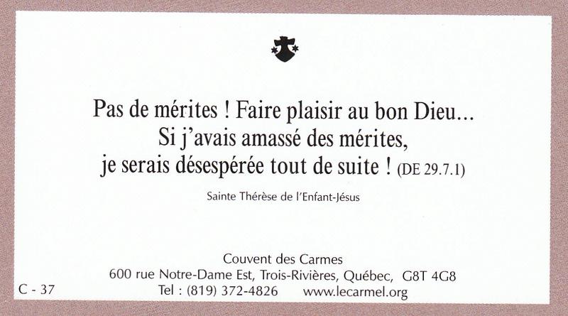 Petites paroles de Sainte-Thérèse de l'Enfant-Jésus et de la Sainte-Face - Page 6 C-3710