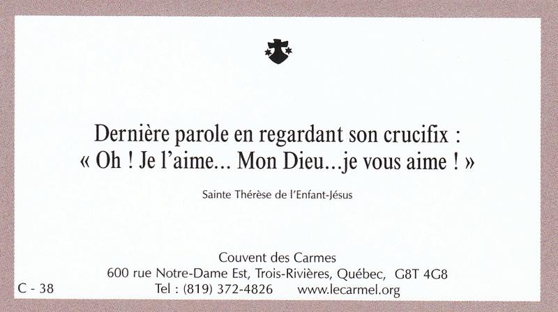 Petites paroles de Sainte-Thérèse de l'Enfant-Jésus et de la Sainte-Face - Page 6 C-3810