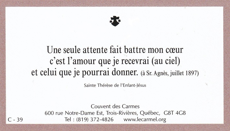 Petites paroles de Sainte-Thérèse de l'Enfant-Jésus et de la Sainte-Face - Page 6 C-3910
