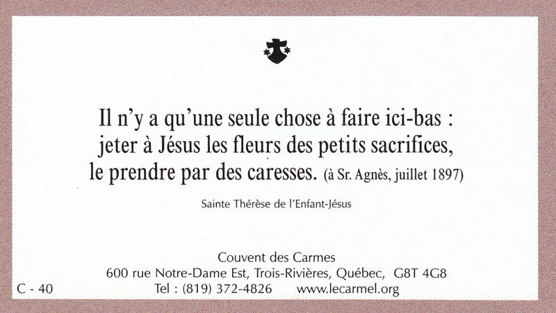 Petites paroles de Sainte-Thérèse de l'Enfant-Jésus et de la Sainte-Face - Page 6 C-4010