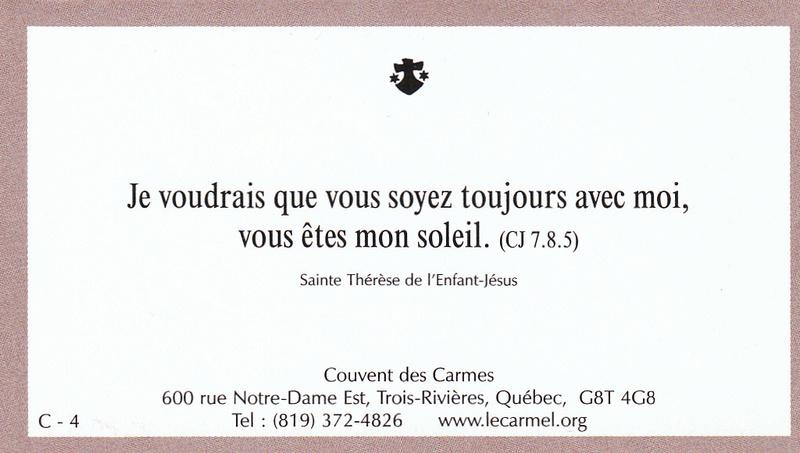 Petites paroles de Sainte-Thérèse de l'Enfant-Jésus et de la Sainte-Face - Page 5 C-410