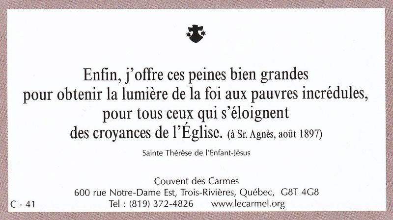 Petites paroles de Sainte-Thérèse de l'Enfant-Jésus et de la Sainte-Face - Page 6 C-4110