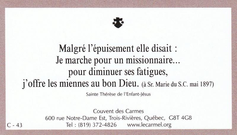 Petites paroles de Sainte-Thérèse de l'Enfant-Jésus et de la Sainte-Face - Page 6 C-4310