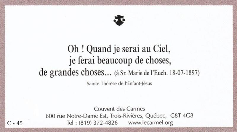 Petites paroles de Sainte-Thérèse de l'Enfant-Jésus et de la Sainte-Face - Page 6 C-4510