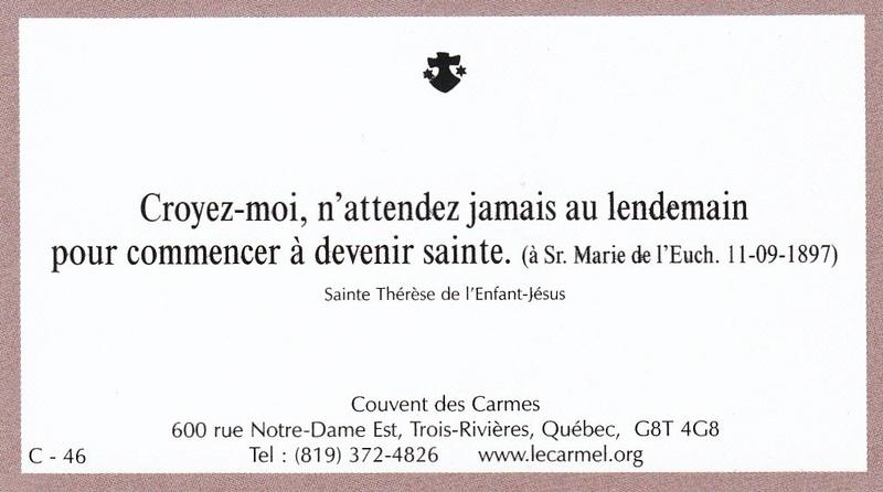 Petites paroles de Sainte-Thérèse de l'Enfant-Jésus et de la Sainte-Face - Page 6 C-4610
