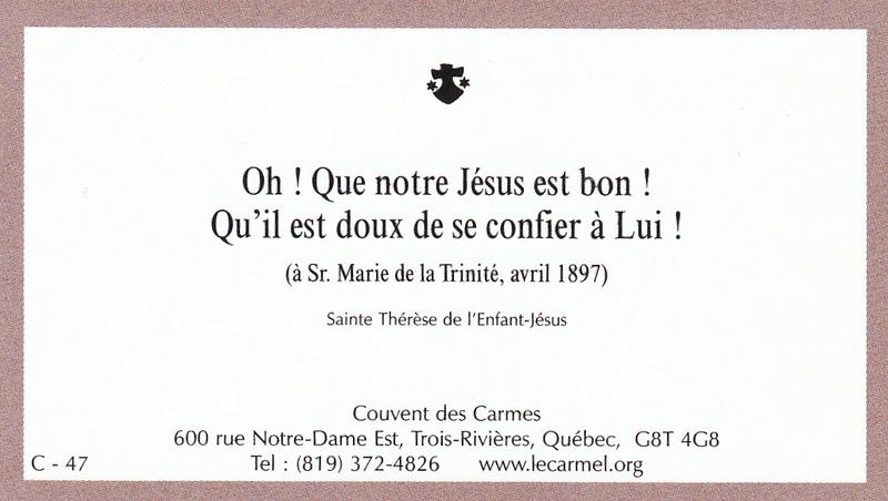 Petites paroles de Sainte-Thérèse de l'Enfant-Jésus et de la Sainte-Face - Page 6 C-4710