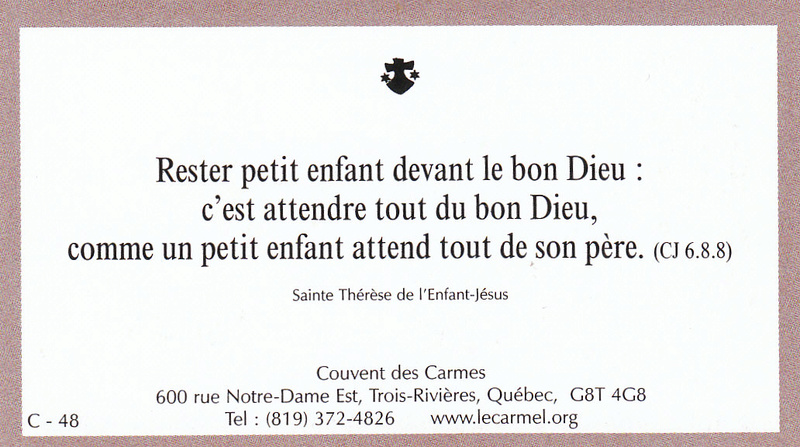 Petites paroles de Sainte-Thérèse de l'Enfant-Jésus et de la Sainte-Face - Page 6 C-4810