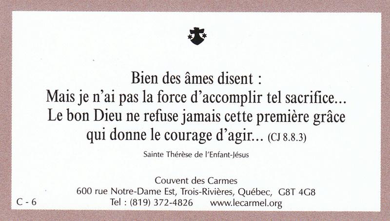 Petites paroles de Sainte-Thérèse de l'Enfant-Jésus et de la Sainte-Face - Page 5 C-610