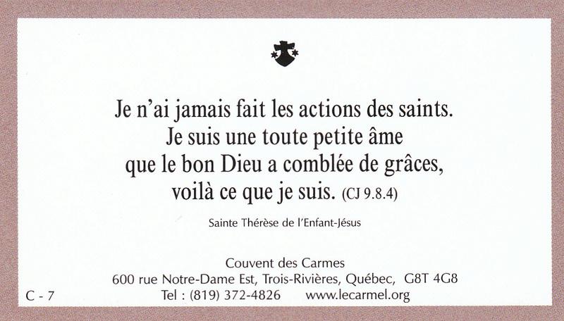 Petites paroles de Sainte-Thérèse de l'Enfant-Jésus et de la Sainte-Face - Page 5 C-710