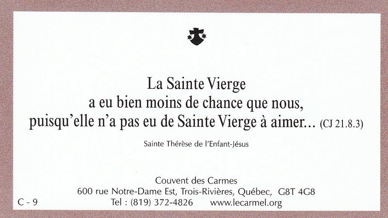 Petites paroles de Sainte-Thérèse de l'Enfant-Jésus et de la Sainte-Face - Page 5 C-910