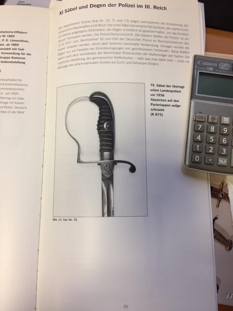 Sabre d'apparat  Officiel  / Fonctionnaire de Thuringe   Image210