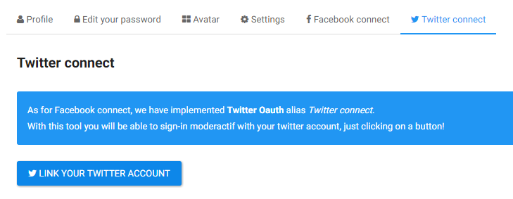 Twitter connect: link your account Twitte12