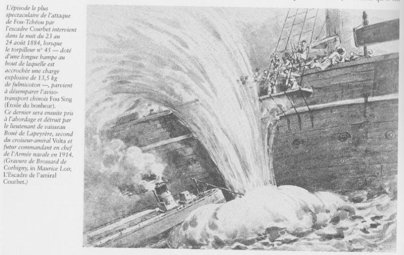le contre torpilleur la Bombarde de 1903 et le torpilleur numéroté 340 de 1904 Fou_tc10