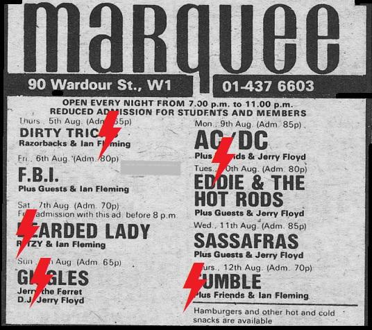 1976 / 08 / 09 - UK, London, Marquee Ooooo10