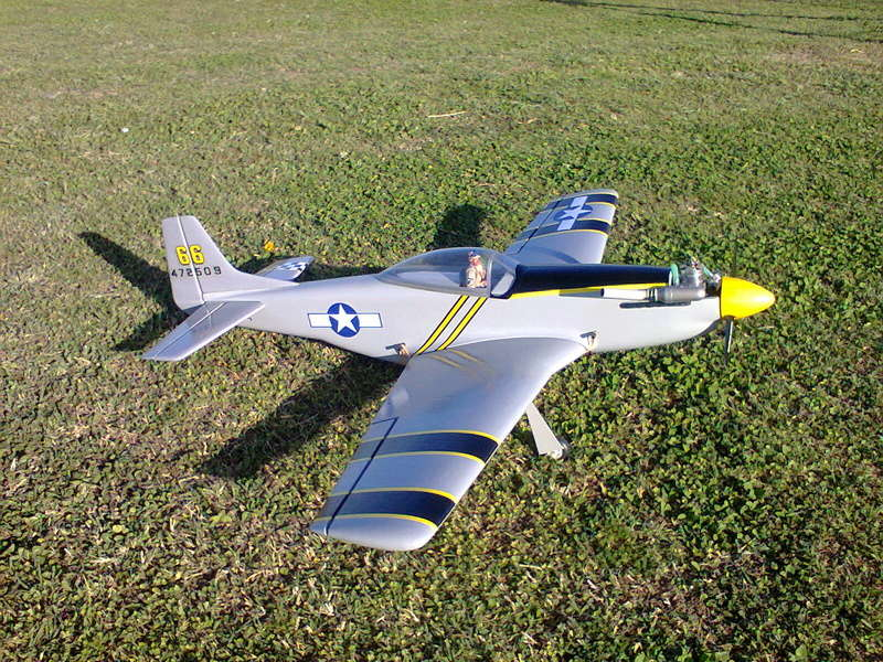 P51 Mustang by Kyosho (restoration)and flight video Foto1014