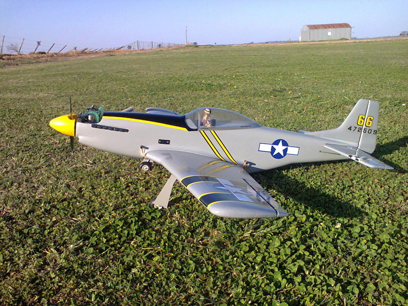 P51 Mustang by Kyosho (restoration)and flight video Foto1015
