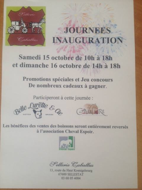 JOURNEES INAUGURATION DE LA SELLERIE CABALLUS - Selestat (67) 14485010