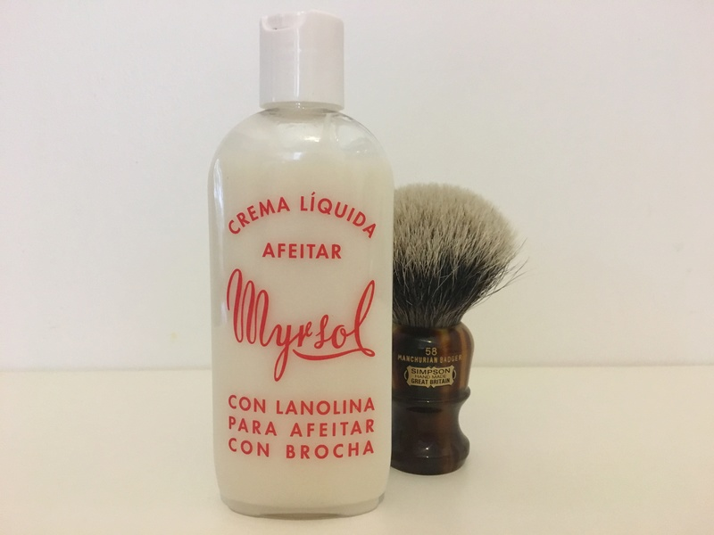 Revue Crème de rasage liquide MYRSOL Img_1314